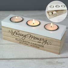 Personalised Candle Tealight Remembrance Memorial Set of 10