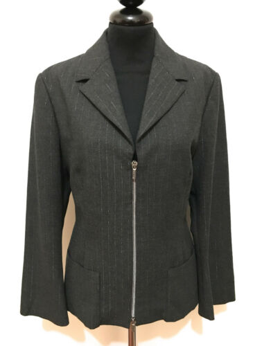 Woman Couture Donna Jeans 42 Versace Sz Giacca s Lurex Jacket Blazer Xq1Z5R