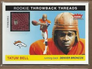 2004-Fleer-Tradition-Rookie-Throwback-Threads-Footballs-TTTB-Tatum-Bell-NM-MT