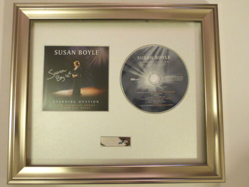 STANDING OVATION CD SUSAN BOYLE PERSONALLY SIGNED//AUTOGRAPHED FRAMED CD BGT