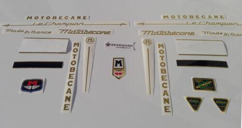 Motobecane Le Champion Reynolds stickers autocollants decals adesivi aufkleber