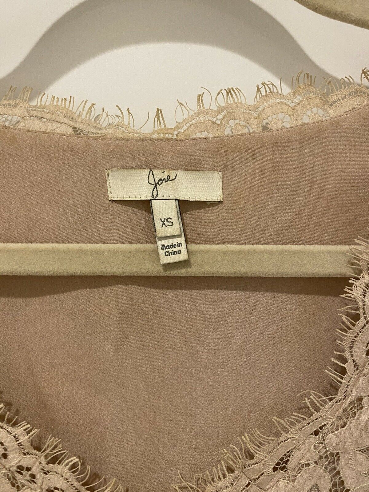 Joie dusty pink Lace Tank Top - image 3