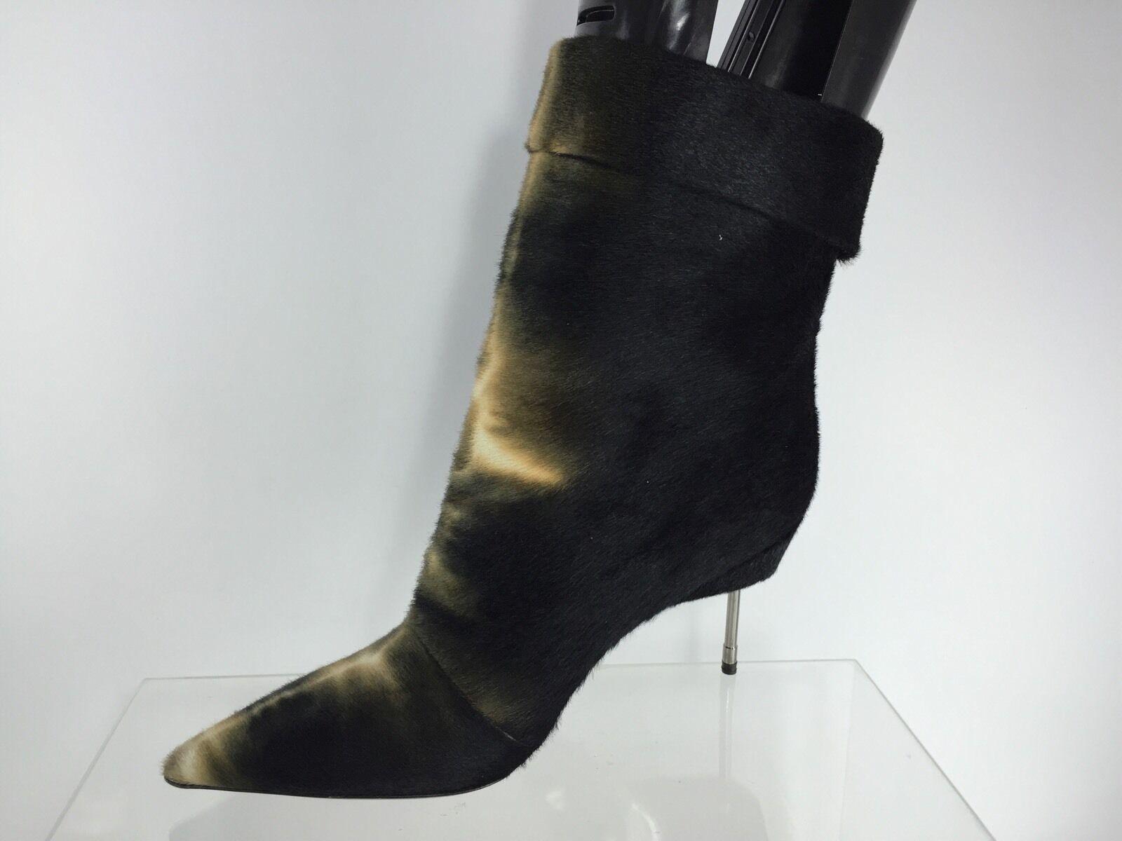 974 KURT GEIGER LONDON Paddington PONYSKIN Femme Noir Multi Couleur bottes 40