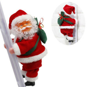 Electric-Santa-Claus-Ornament-Plush-Doll-Toy-Climb-the-Ladder-Christmas-GiftsBHQ