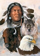 Jigsaw puzzle Ethnic Native American One Spirit 1000 piece NEW