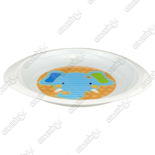 Baby Oval Feeding Plate,Bowl Microwave Safe Cute Characters BPA Free 12m+