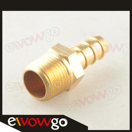 """Male Brass Hose Barbs Barb 8mm To 3//8/"""" NPT Pipe Male Thread"""