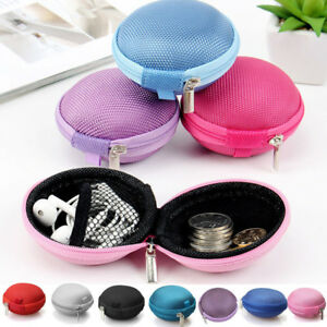 Pouch Bag Earphone Hard Case Card Earbuds Coin Storage Mini Carrying Headphone