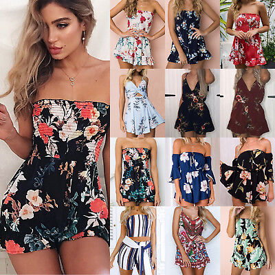 Baby girls floral jumpsuit okaysuit colourful sleeveless summer holiday outfit