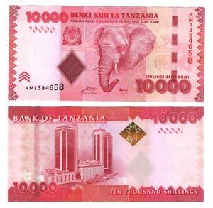 10,000 Tanzania 10000 Shillings p-44b 2015 UNC Banknote