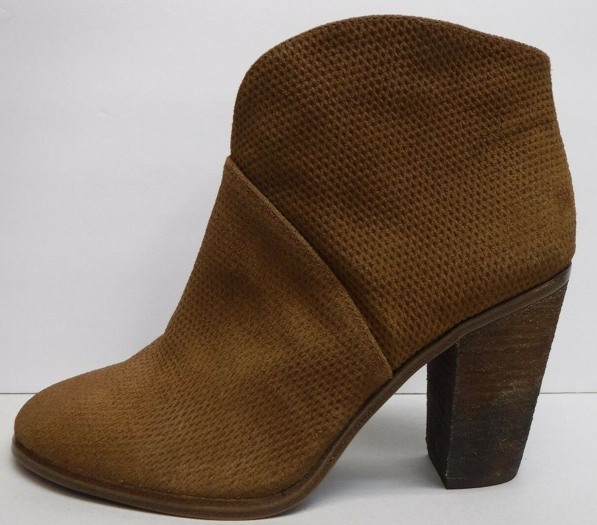 Vince Camuto Size 10 Brown Leather Ankle Boots New Womens Shoes