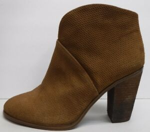 Vince-Camuto-Size-7-5-Brown-Leather-Ankle-Boots-New-Womens-Shoes