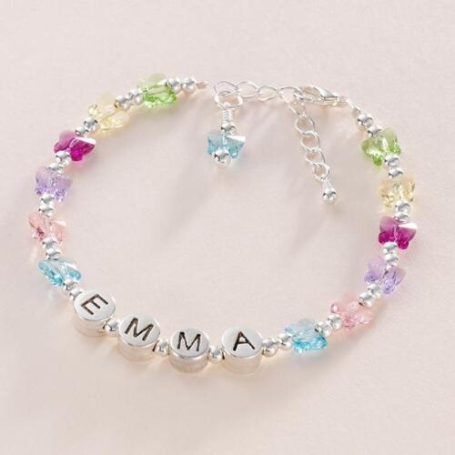 Geschenkkarton /& für Tochter Personalisiert Armbänder für Mädchen,Jeder Name