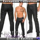 NEW shiny BLACK JEANS FOR MEN CASUAL WEAR MENS FASHION PANTS MEN'S CLOTHES MAN