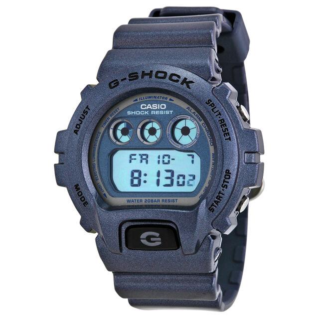 Casio G Shock Digital Dial Blue Resin Mens Watch DW6900MF-2CR