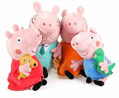Peppa Pig Set of Four Cute Plush Family Members - Daddy Pig and Mummy Pig are 28