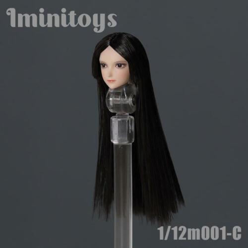 "Iminitoys 1//12 M001 Girl Head Sculpt F 6/"" Female Phicen Pale Action Figure Body"