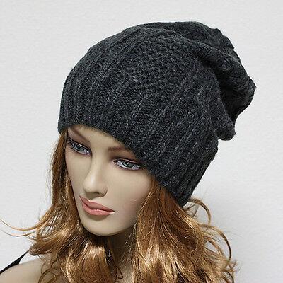 Knit Beanie Men's Women's Winter Oversize Hat Ski Slouchy Cap Chic Unisex New