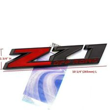 "1x OEM 10"" Big Z71 OFF ROAD Emblem badge 3D Ford Silverado 2500HD FU Black Red"