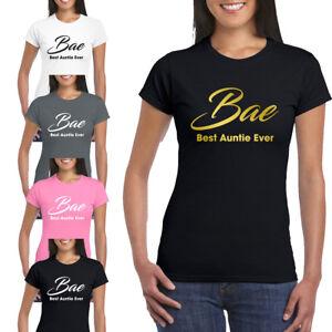 357307b52 BAE Best Auntie Ever Ladies Womens Fitted Tshirt Funny Aunt Joke ...