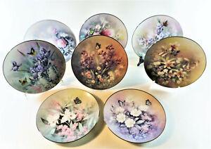 8 Teller Motive Tan Chun Chiu Jewels of the Flowers Knowles Sammelteller