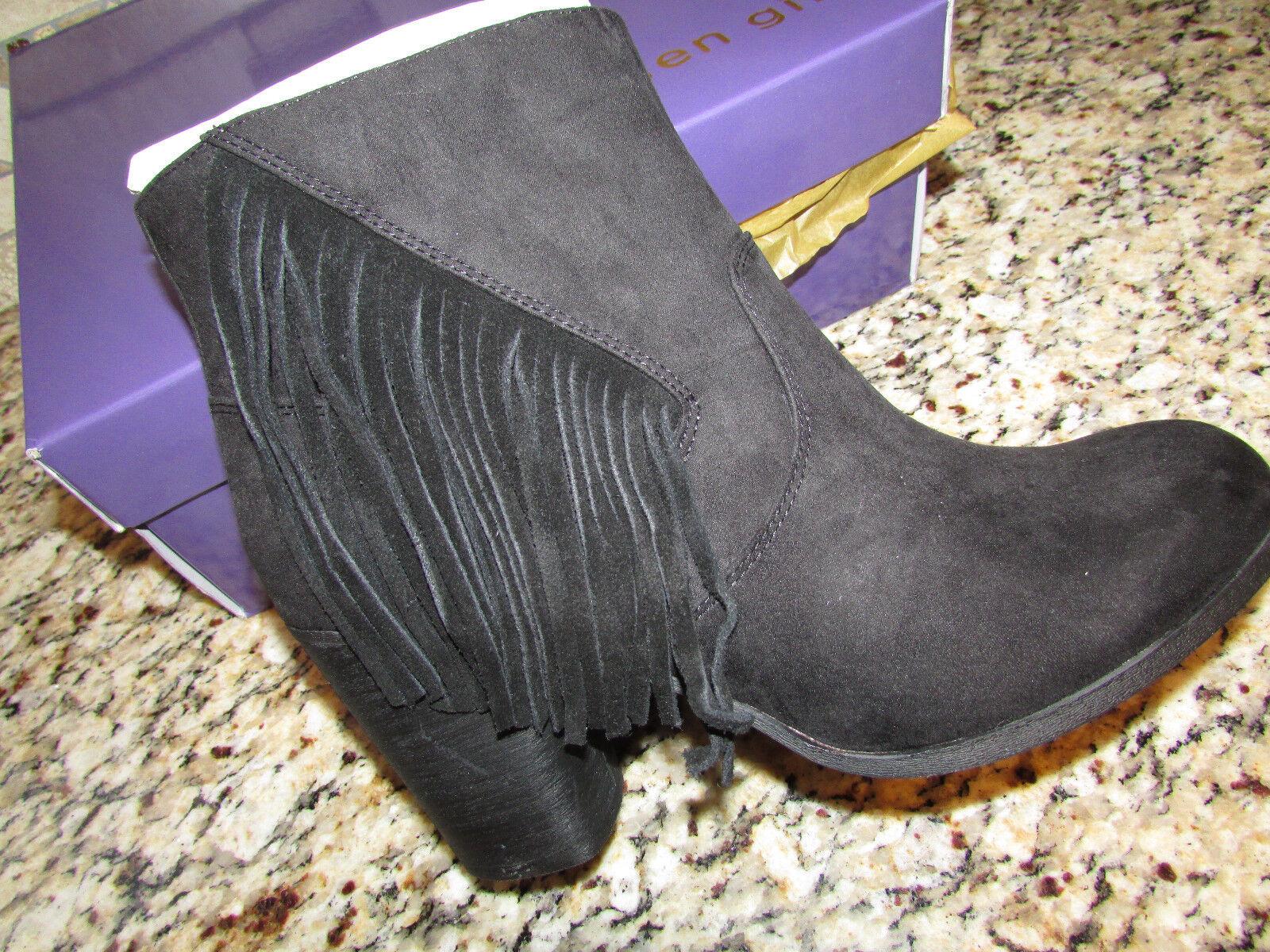 NEU MADDEN GIRL DESCENT BLACK ANKLE BOOTES BOOTS Damenschuhe 8.5 W/ FRINGE FREE SHIP