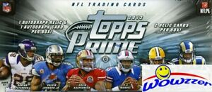 2013-Topps-PRIME-Football-Factory-Sealed-HOBBY-Box-4-AUTOGRAPHS-RELICS-Loaded