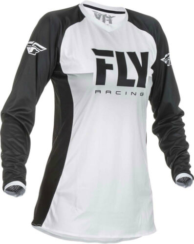 Fly Racing MX Motocross Girls Youth Lite Jersey White//Black Choose Size
