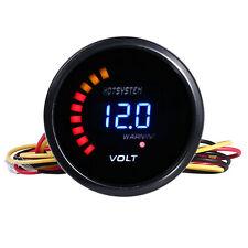 """HOTSYSTEM 2"""" 52mm Digital 20 LED Electronic Volt Voltmeter Gauge for Car #7029"""