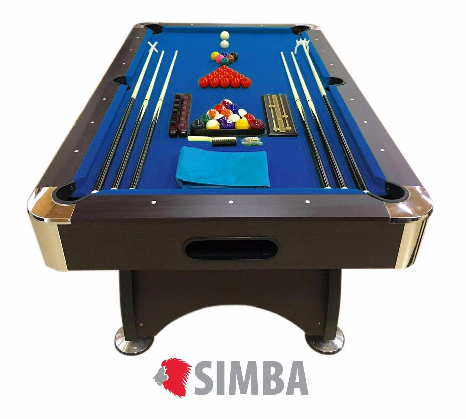 TAVOLO DA BILIARDO + ACCESSORI PER CARAMBOLA - SNOOKER blue billiard table 7FT