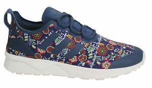 adidas-ZX-Flux-ADV-Verve-W-Sizes-5-5-5-Blue-RRP-90-BNIB-S75985-RARE