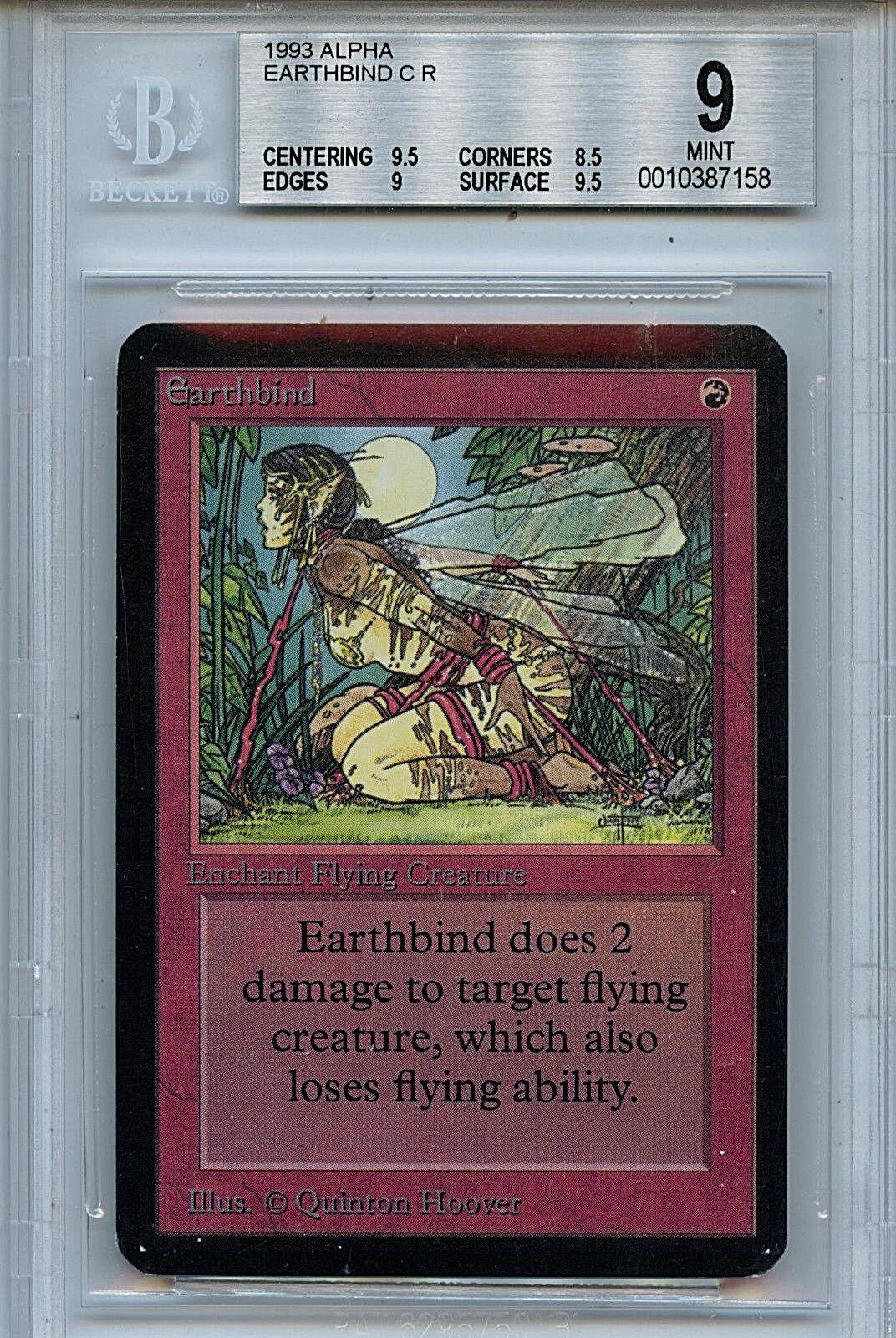 MTG Alpha Earthbind BGS 9.0 (9) Mint Card  Magic Magic Magic the Gathering Amricons 7158 e3d708