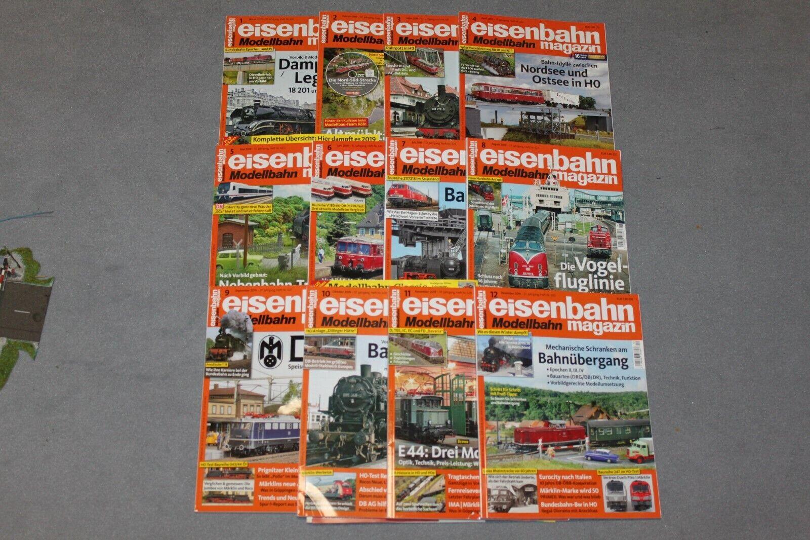 Eisenbahn Magazin EM 2019, kompletter Jahrgang mit 12 Heften 1 2019-12 2019 TOP