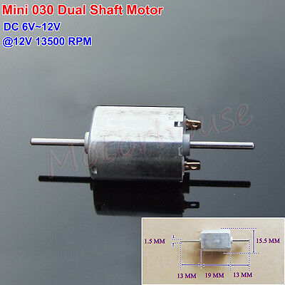 5PCS DC 6V 12V 13500RPM Double Shaft Micro Mini Electric 030 Motor DIY Toy Model