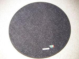 6600-flacher-runder-Teppich-110-Velours-rund-anthrazit-grau-mit-Punkten-robust