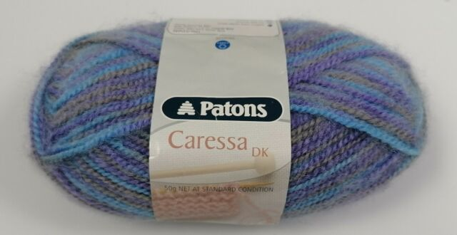 Patons CARESSA DK 50g ball DOUBLE KNITTING YARN. 4567 GREY//OYSTER MIX