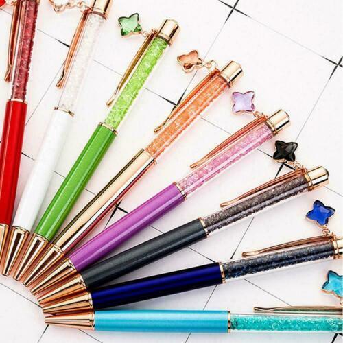 Schulschreibwerkzeug Glitter Crystal Ballpoint Pen Anhänger Star I4V7