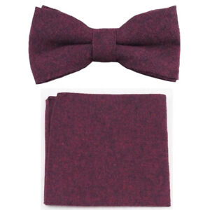Navy Blue white Hot pink Green Floral Pre-tied Bow ties Cotton Bowties with Matching Pocket Squares Set