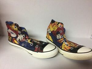 de30076d0a88 Converse All Star Chuck Taylor Boys Red blue Superman Hightop Shoes ...