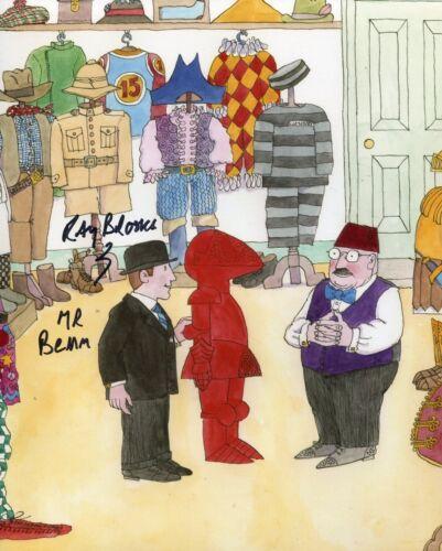 Children TV series MR BENN 8x10 photo signed by narrator RAY BROOKS IMAGE No4