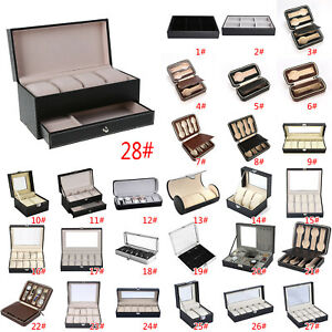 2-12-Grids-Watch-Jewelry-Storage-Hold-Box-Watches-Sunglasses-Display-Case-Gift