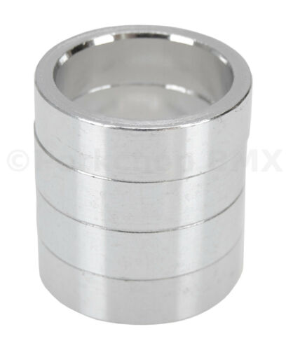 """10mm SILVER Bicycle BMX or MTB headset spacers for 1 1//8/"""" threadless SET of 4"""