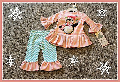 Rare Editions Penguin Set Size 6 9 Months Boutique Girls Winter Christmas NWT
