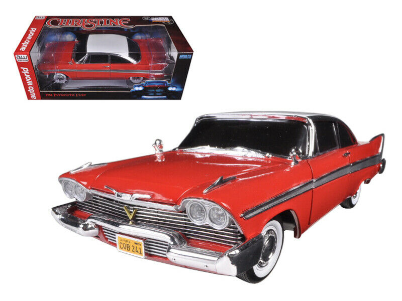 Autoworld 1 18 1958 Plymouth Fury Christine Nuit Version Model rouge AWSS 102