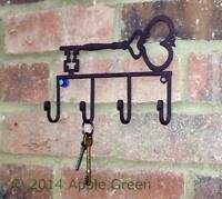 Key Rack Wall Hook Metal 4 Hooks Vintage Shabby Chic Antique Style Holder Safe