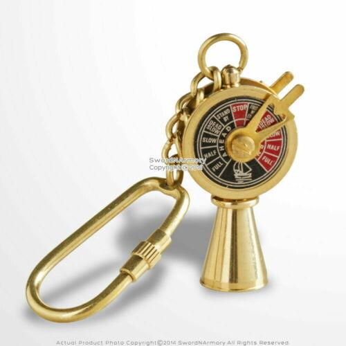Vintage Handmade Brass Miniature Maritime Telegraph Key Chain Ring Gift