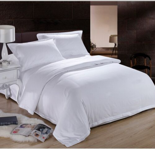 WHITE SOLID BED SHEET SET 800 TC 100/% EGYPTIAN COTTON SELECT YOUR SIZE