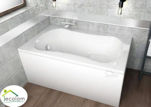 Badewanne Wanne Rechteck Sitzbadewanne mit Sitz 120 x 70 optional Schürze Acryl