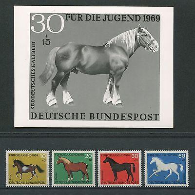 Brd Foto-essay 578/581 Pferde 1969 Entwurf Photo-essay Proof Horse Rare!! E350 Reines Und Mildes Aroma