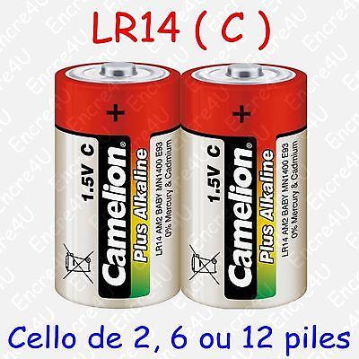 2 Piles super alcalines CAMELION C//LR14